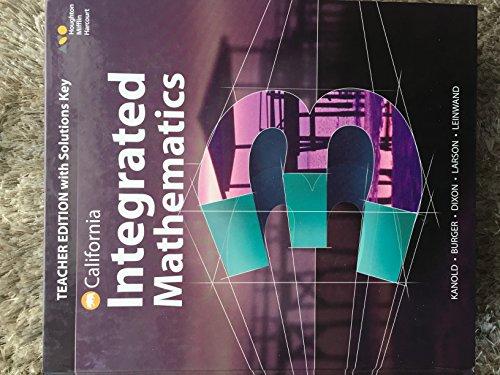 Integrated Mathematics 3 - Teacher Edition with: Kanold; Burger; Dixon;