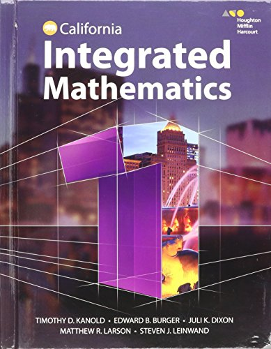 9780544441569: HMH Integrated Math 1 California: Student Edition 2015