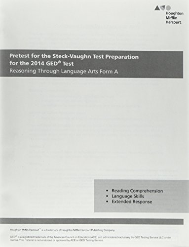 9780544536241: Steck Vaughn GED: Pretest for Reasoning Through Language Arts Form A