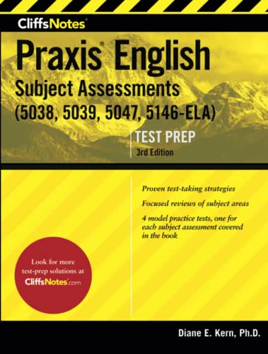 9780544628274: CliffsNotes Praxis English Subject Assessments, 3rd Edition: (5038, 5039, 5047, 5146-ELA)