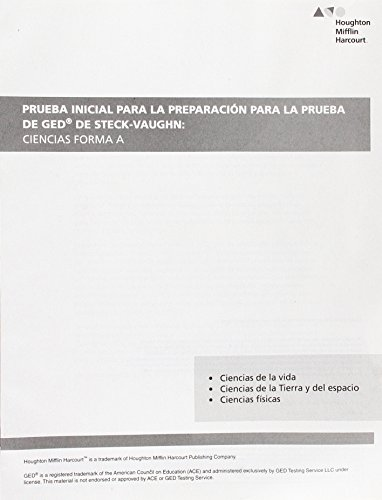 9780544801394: Steck Vaughn GED: Spanish Workbook Pretest for Science (Spanish Edition)