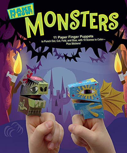 9780544915671: Monsters (Make it Now!): 11 Paper Finger Puppets to Punch Out, Cut, Fold, and Glue, with 10 Scenes to Color Plus Stickers!