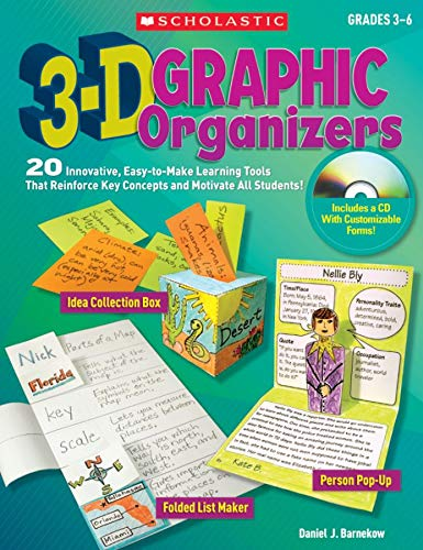 9780545005203: 3-D Graphic Organizers: 20 Easy-To-Make Learning Tools Th