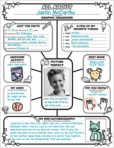 9780545015370: Graphic Organizer Posters: All-About-Me Web: Grades 3-6: 30 Fill-in Personal Posters for Students to Display with Pride