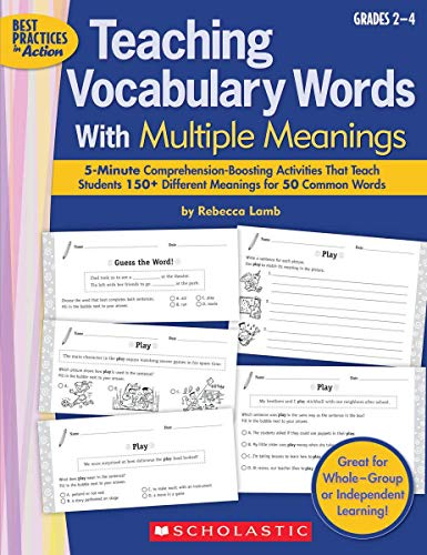 9780545054027: Teaching Vocabulary Words With Multiple Meanings: 5-Minute Comprehension-Boosting Activities That Teach Students 150+ Different Meanings for 50 Common Words (Best Practices in Action)