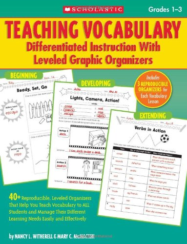 9780545059008: Teaching Vocabulary, Grades 1-3: Differentiated Instruction with Leveled Graphic Organizers