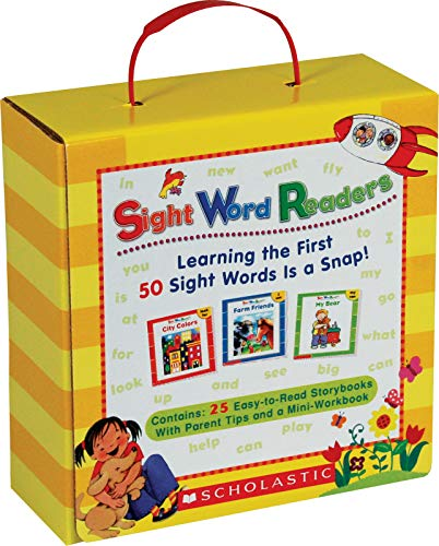 9780545067652: Sight Word Readers Boxed Set: Learning the First 50 Sight Words Is a Snap! [With Mini-Workbook]