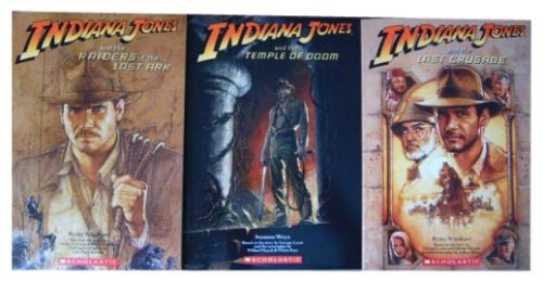 Indiana Jones Trilogy 3 Book Set Novelization with Mini Poster
