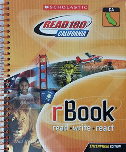 9780545076760: Scholastic Read 180 California rBook read write react; Stage A