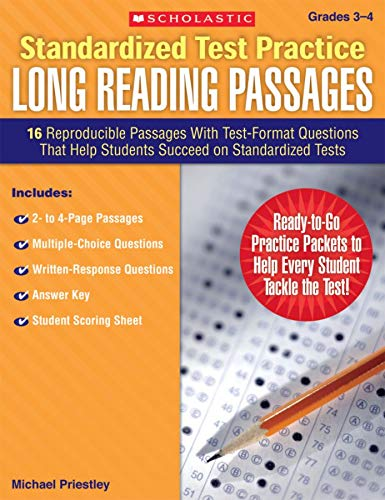 9780545083249: Standardized Test Practice: Long Reading Passages: Grades 3-4: 16 Reproducible Passages With Test-Format Questions That Help Students Succeed on Standardized Tests