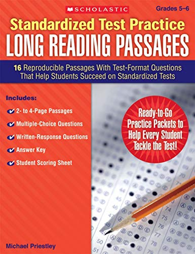9780545083331: Standardized Test Practice: Long Reading Passages: Grades 5-6: 16 Reproducible Passages With Test-Format Questions That Help Students Succeed on Standardized Tests