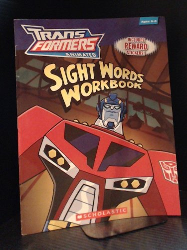 9780545098403: Transformers Animated Sight Words Workbook