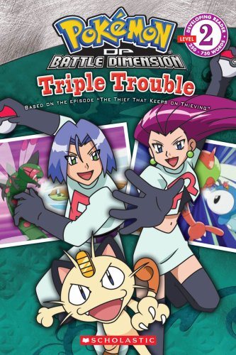 9780545112109: Pokemon: Triple Trouble (Developing Reader, Level 2)