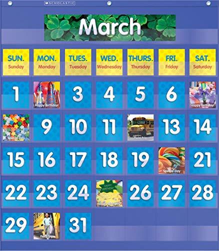 9780545114790: Monthly Calendar Pocket Chart