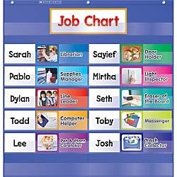 9780545114806: Class Jobs Pocket Chart