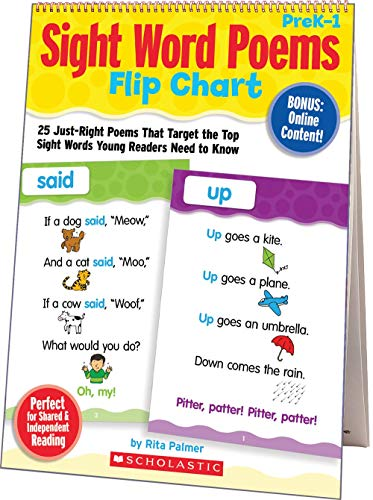9780545115940: Sight Word Poems Flip Chart: 25 Just-Right Poems That Target the Top Sight Words Young Readers Need to Know