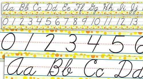 9780545118378: Standard Cursive Alphabet and Numbers 0-30