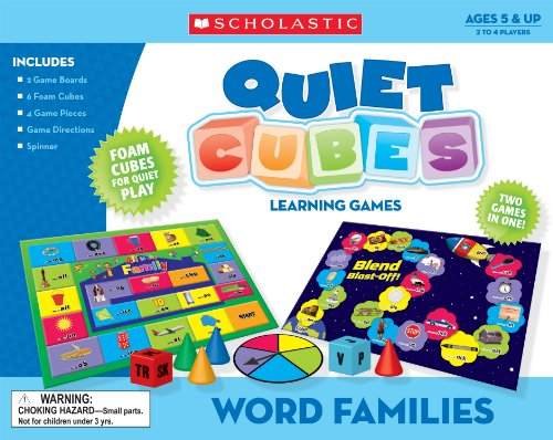 9780545119337: Word Families Quiet Cubes Learning Games (Teacher's Friend)