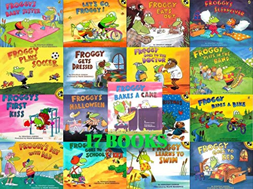 9780545124706: Froggy 17-Book Set (Froggy . . . Bakes a Cake, Eats Out, Gets Dressed, Goes to Bed, Goes to School, Goes to the Doctor, Learns to Swim, Plays in the Band, Plays Soccer, Rides a Bike, Froggy's . . . Baby Sister, Best Christmas, Day with Dad, First Kiss, Halloween, Sleepover, & Let's Go Froggy!)