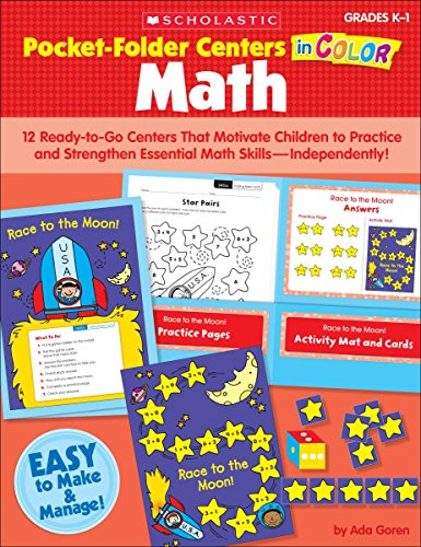 9780545130370: Pocket-Folder Centers in Color: Math: 12 Ready-to-Go Centers That Motivate Children to Practice and Strengthen Essential Math Skills—Independently!