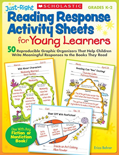 9780545133708: Just-Right Reading Response Activity Sheets for Young Learners: 50 Reproducible Graphic Organizers That Help Children Write Meaningful Responses to the Books They Read