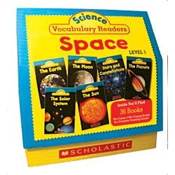9780545149198: Science Vocabulary Readers: Space: Exciting Nonfiction Books That Build Kids' Vocabularies Includes 36 Books (Six copies of six 16-page titles) Plus a ... Sun, Moon, Planets, Stars and Constellations