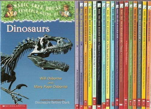 9780545155786: The Magic Tree House Research Guide 18-Book Set (American Revolution, Ancient Greece and the Olympics, Ancient Rome and Pompeii, Dinosaurs, Dolphins and Sharks, Knights and Castles, Mummies and Pyramids, Penguins and Antarctica, Pilgrims, Pirates, Polar Bears and the Arctic, Rain Forests, Sabertooths and the Ice Age, Sea Monsters, Space, Titanic, Tsunamis and Other Natural Disasters, and Twisters and Other Terrible Storms)