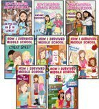 9780545166447: How I Survived Middle School Complete Set, Books 1-8: Can You Get an F in Lunch?, Madame President, I Heard a Rumor, The New Girl, Cheat Sheet, P.S. I Really Like You, Who's Got Spirit?, and It's All Downhill from Here (8-Book Set)