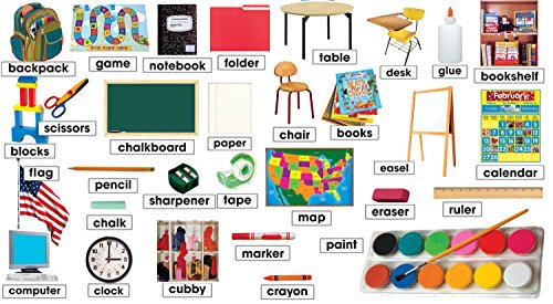 9780545177580: Classroom Photos & Labels Mini Bulletin Board