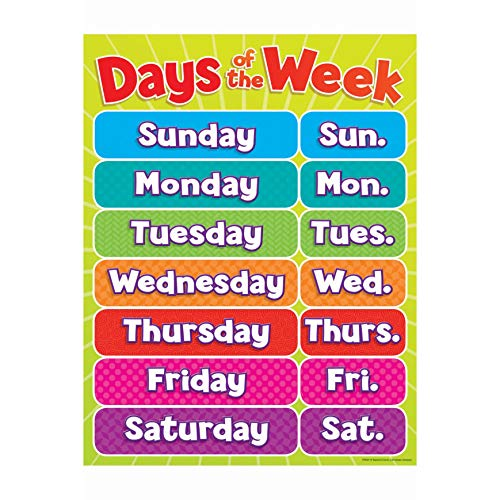 9780545196376: Days of the Week Chart