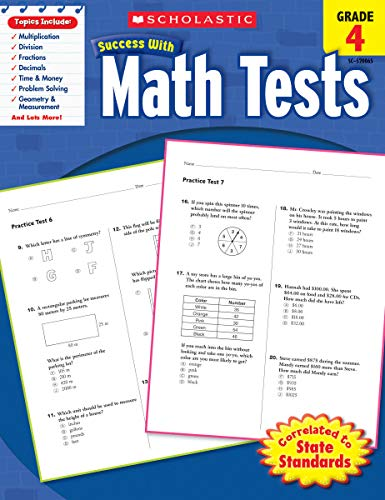 9780545200653: Scholastic Success with Math Tests, Grade 4 (Scholastic Success with Workbooks: Tests Math)