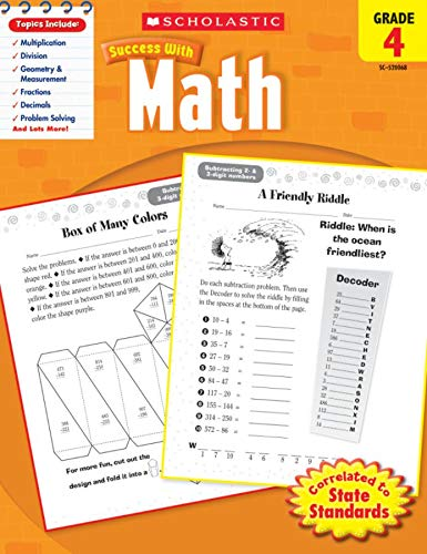 9780545200684: Scholastic Success with Math, Grade 4 (Scholastic Success with Workbooks: Math)