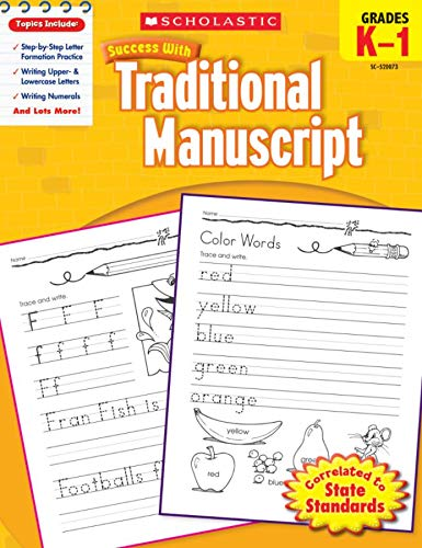 9780545200738: Scholastic Success with Traditional Manuscript, Grades K-1