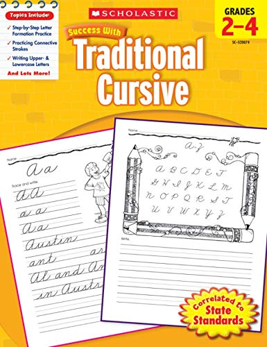 9780545200745: Success With Traditional Cursive: Grades 2-4