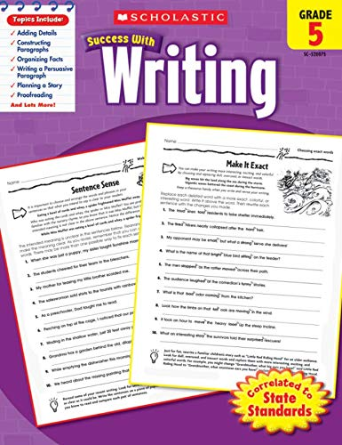 9780545200752: Scholastic Success with Writing, Grade 5