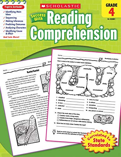 9780545200813: Scholastic Success with Reading Comprehension, Grade 4