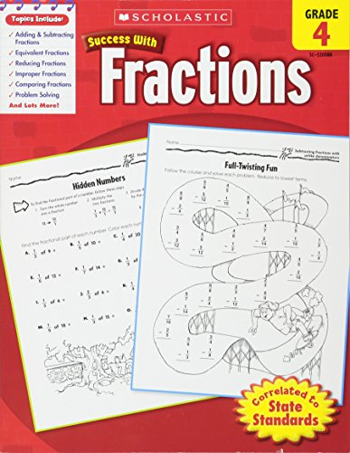 9780545200882: Scholastic Success with Fractions, Grade 4 (Success With Math)
