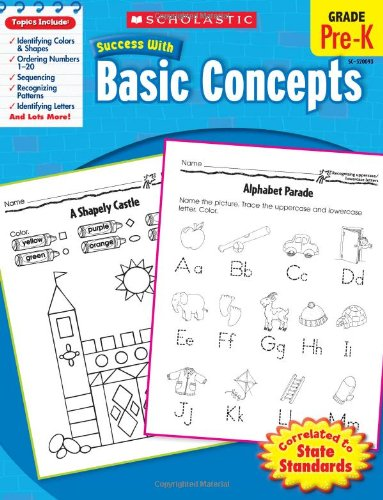 9780545200936: Scholastic Success with Basic Concepts, Pre-K