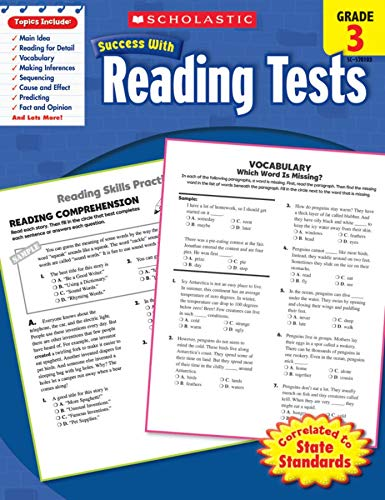 9780545201032: Scholastic Success With Reading Tests, Grade 3 (Scholastic Success with Workbooks: Tests Reading)
