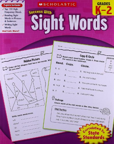 9780545201124: Scholastic Success With Sight Words: Grade K-2