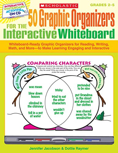 9780545207157: 50 Graphic Organizers for the Interactive Whiteboard: Whiteboard-Ready Graphic Organizers for Reading, Writing, Math, and More (Grades 2-5)