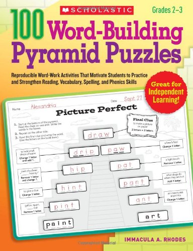9780545208222: 100 Word-Building Pyramid Puzzles: Reproducible Word-Work Activities That Motivate Students to Practice and Strengthen Reading, Vocabulary, Spelling, and Phonics Skills (Teaching Resources)