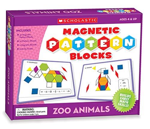 9780545213714: Magnetic Pattern Blocks Zoo Animals
