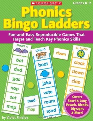 9780545220606: Phonics Bingo Ladders: Fun-and-Easy Reproducible Games That Target and Teach Key Phonics Skills