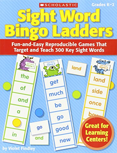 9780545220637: Sight Word Bingo Ladders, Grades K-2: Fun-And-Easy Reproducible Games That Target and Teach 300 Key Sight Words