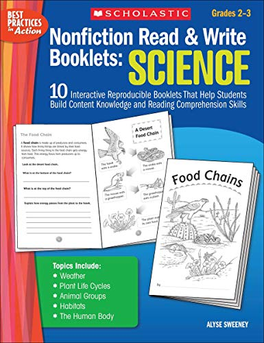 Nonfiction Read & Write Booklets: Science: 10: Sweeney, Alyse