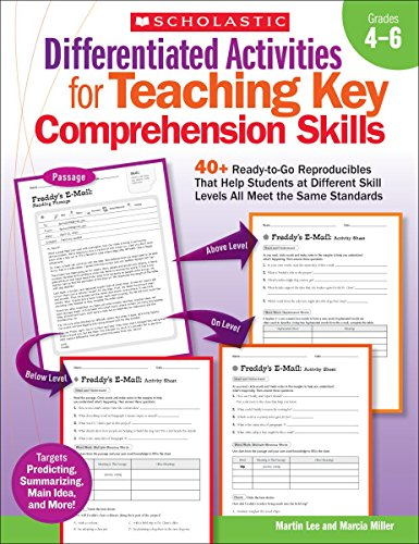 9780545234511: Differentiated Activities for Teaching Key Comprehension Skills: Grades 4-6: 40+ Ready-to-Go Reproducibles That Help Students at Different Skill Levels All Meet the Same Standards