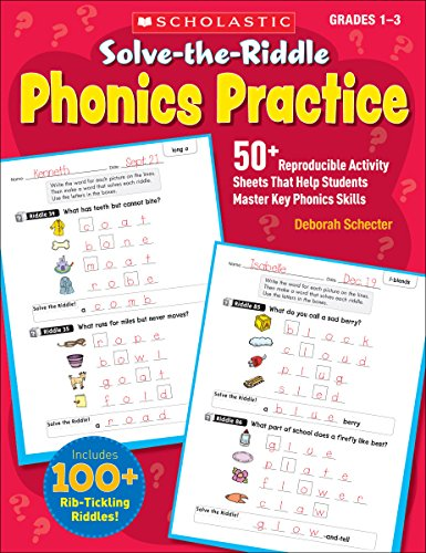 9780545239684: Solve-the-Riddle Phonics Practice: 50+ Reproducible Activity Sheets That Help Students Master Key Phonics Skills