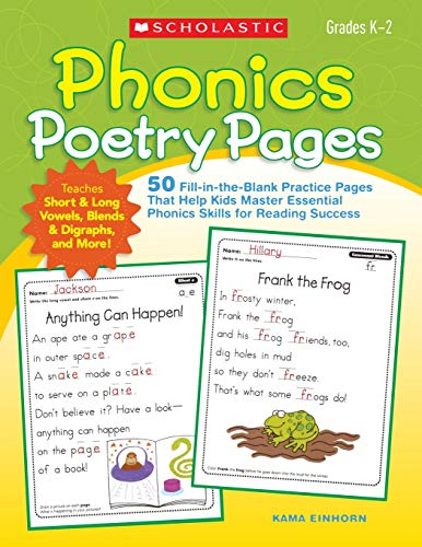 9780545248709: Phonics Poetry Pages: 50 Fill-in-the-Blank Practice Pages That Help Kids Master Essential Phonics Skills for Reading Success