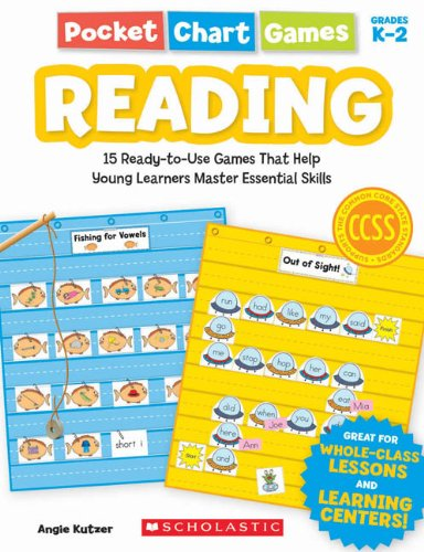 9780545280754: Pocket Chart Games: Reading: 15 Ready-To-Use Games That Help Young Learners Master Essential Skills